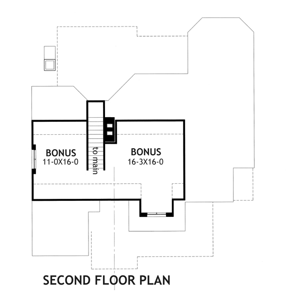 Second Floor Plan image of Featured House Plan: BHG - 2231