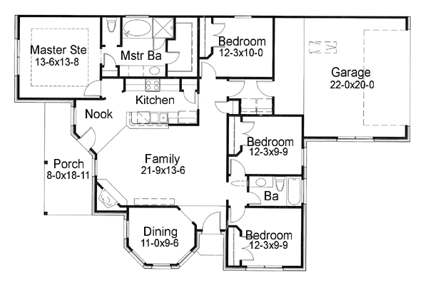 First Floor Plan image of Featured House Plan: BHG - 6647