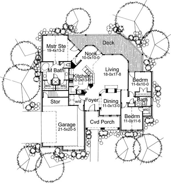 First Floor Plan image of Featured House Plan: BHG - 5771