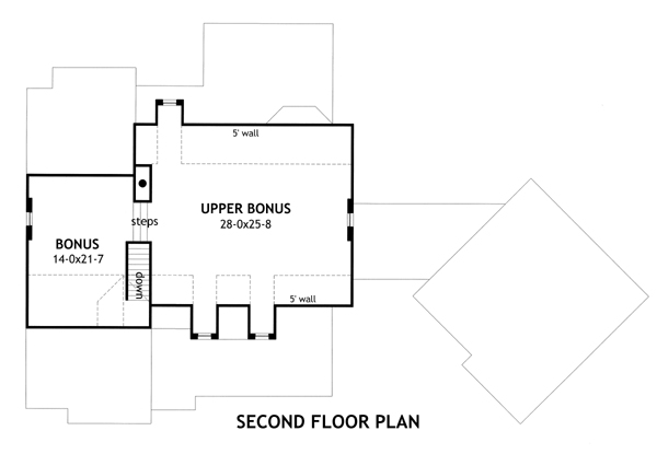 Second Floor Plan image of Featured House Plan: BHG - 2138