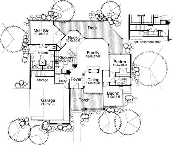 First Floor Plan image of Featured House Plan: BHG - 5772