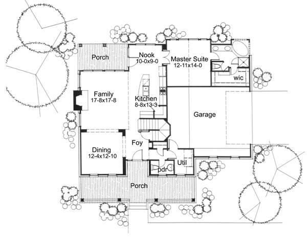First Floor Plan image of Featured House Plan: BHG - 5773