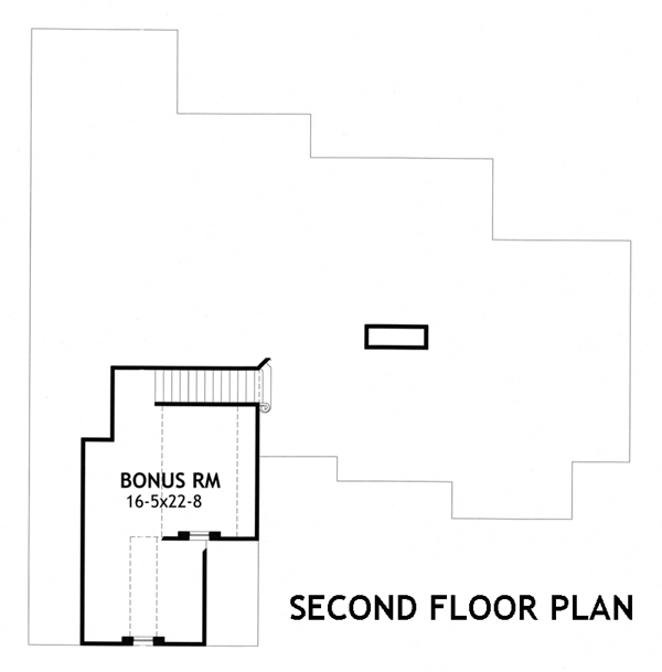 Second Floor Plan image of Featured House Plan: BHG - 3271