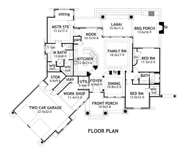 First Floor Plan image of Featured House Plan: BHG - 1897
