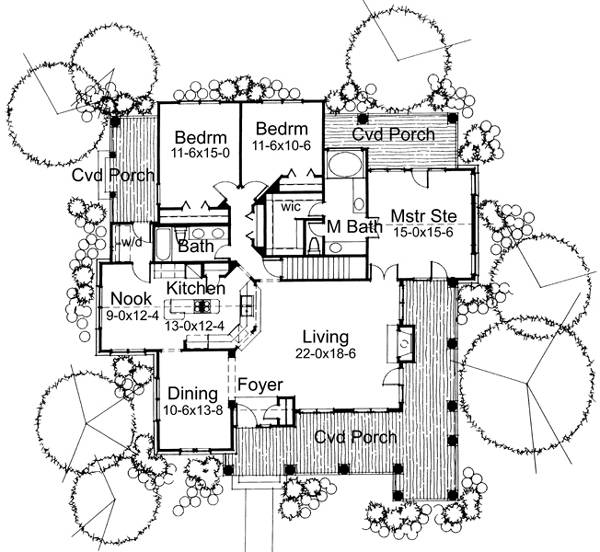 First Floor Plan image of Featured House Plan: BHG - 5775