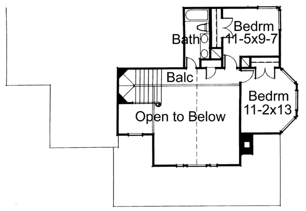 Second Floor Plan image of Featured House Plan: BHG - 5776