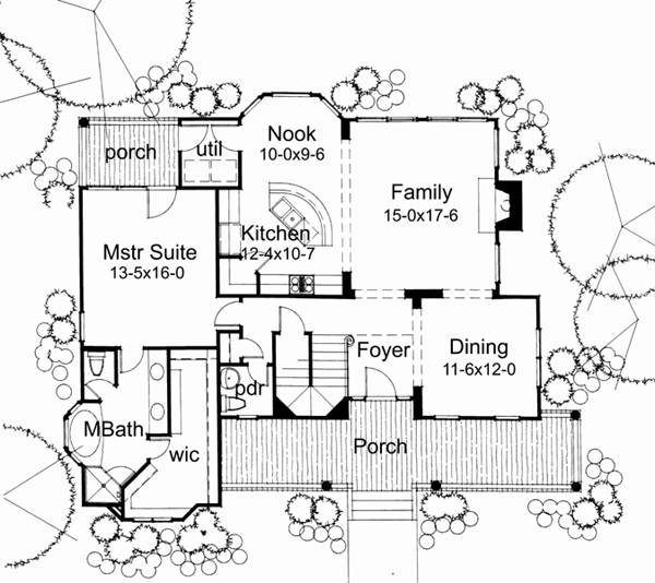 First Floor Plan image of Featured House Plan: BHG - 5777