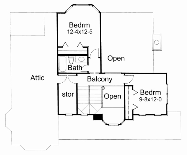 Second Floor Plan image of Featured House Plan: BHG - 5777