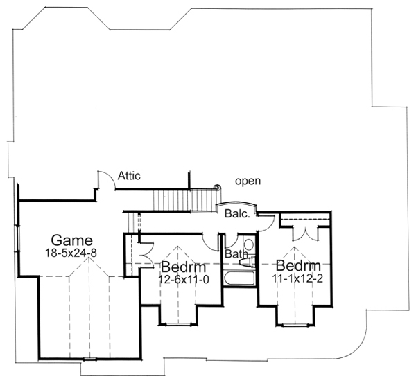 Alternate Second Floor Plan image of Featured House Plan: BHG - 5802