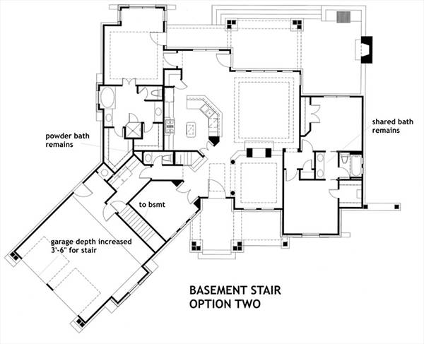 Basement Stair Opt 2 image of Featured House Plan: BHG - 1895