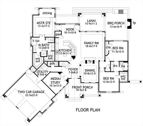 First Floor Plan image of Featured House Plan: BHG - 1895