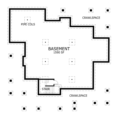 Basement Plan image of Featured House Plan: BHG - 5770