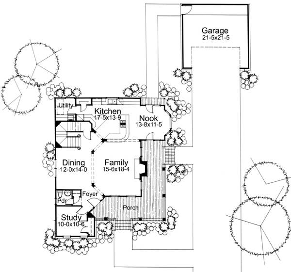 First Floor Plan image of Featured House Plan: BHG - 5794