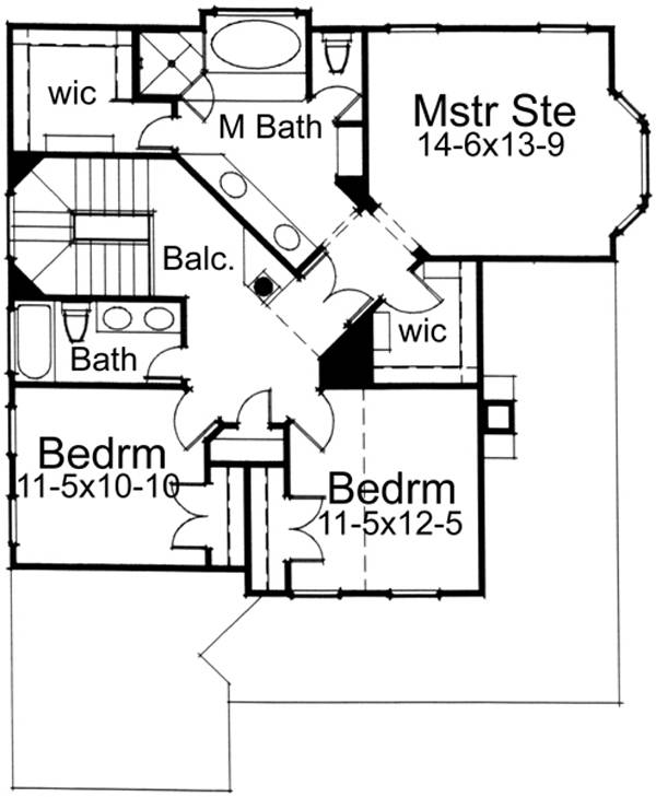 Second Floor Plan image of Featured House Plan: BHG - 5794