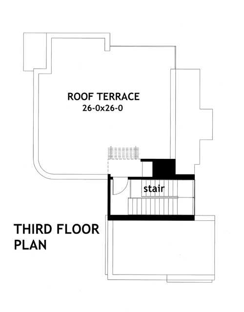 Third Floor Plan image of Featured House Plan: BHG - 2082