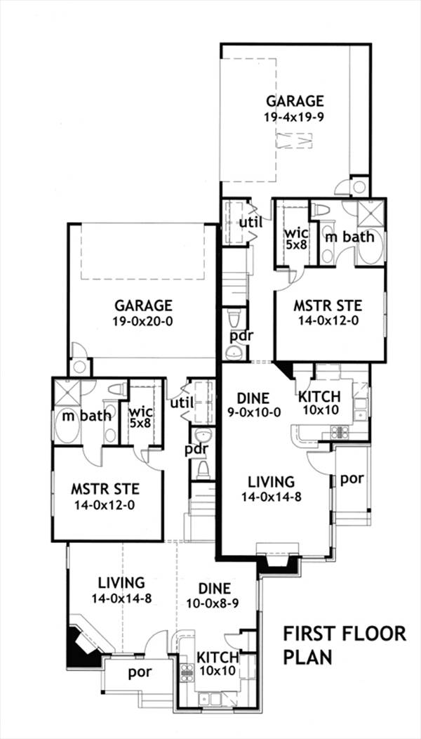 First Floor Plan image of Featured House Plan: BHG - 1902
