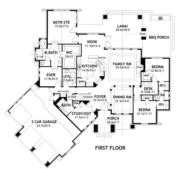 First Floor Plan image of Featured House Plan: BHG - 2297