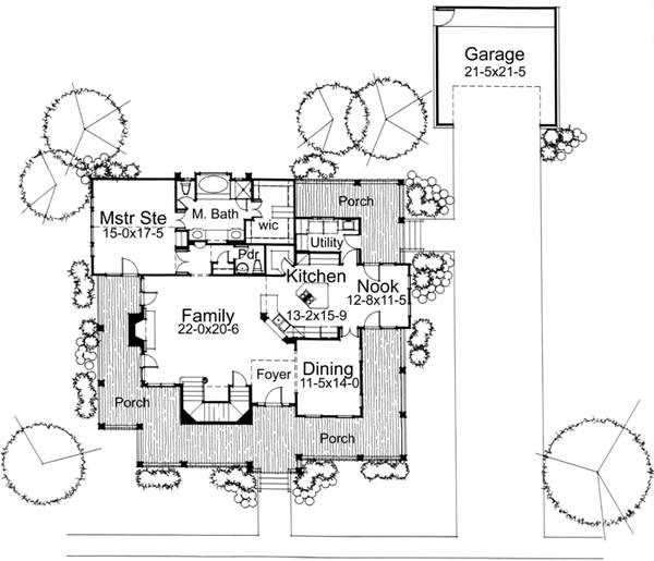 First Floor Plan image of Featured House Plan: BHG - 5784