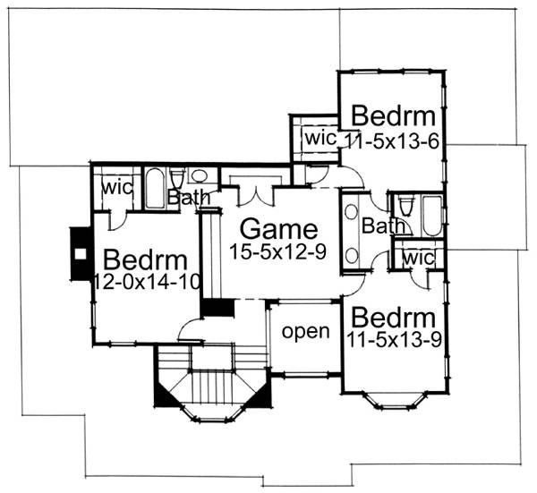 Second Floor Plan image of Featured House Plan: BHG - 5784