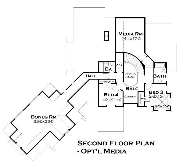 Alternate Second Floor Plan image of Featured House Plan: BHG - 4440