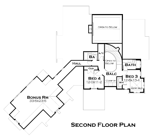Second Floor Plan image of Featured House Plan: BHG - 4440