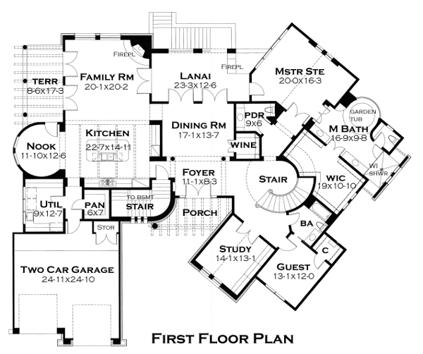 First Floor Plan image of Featured House Plan: BHG - 4442
