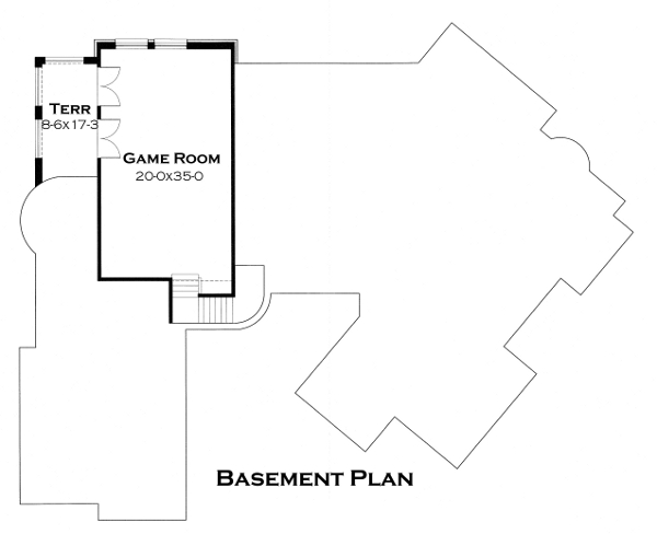 Basement Plan image of Featured House Plan: BHG - 4442