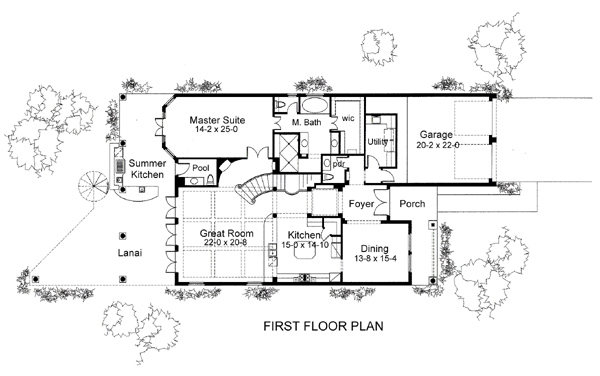 First Floor Plan image of Featured House Plan: BHG - 5981