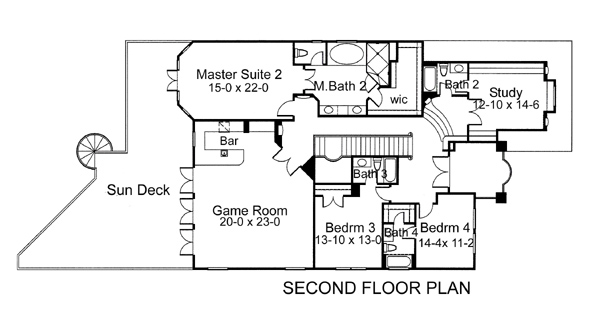 Second Floor Plan image of Featured House Plan: BHG - 5981