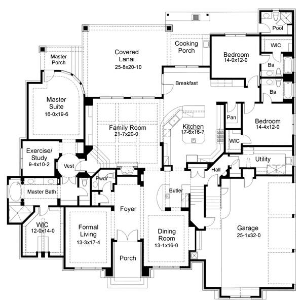 First Floor Plan image of Featured House Plan: BHG - 6556