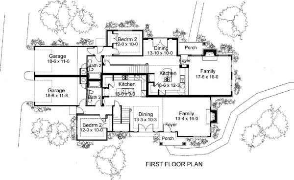 First Floor Plan image of Featured House Plan: BHG - 6021
