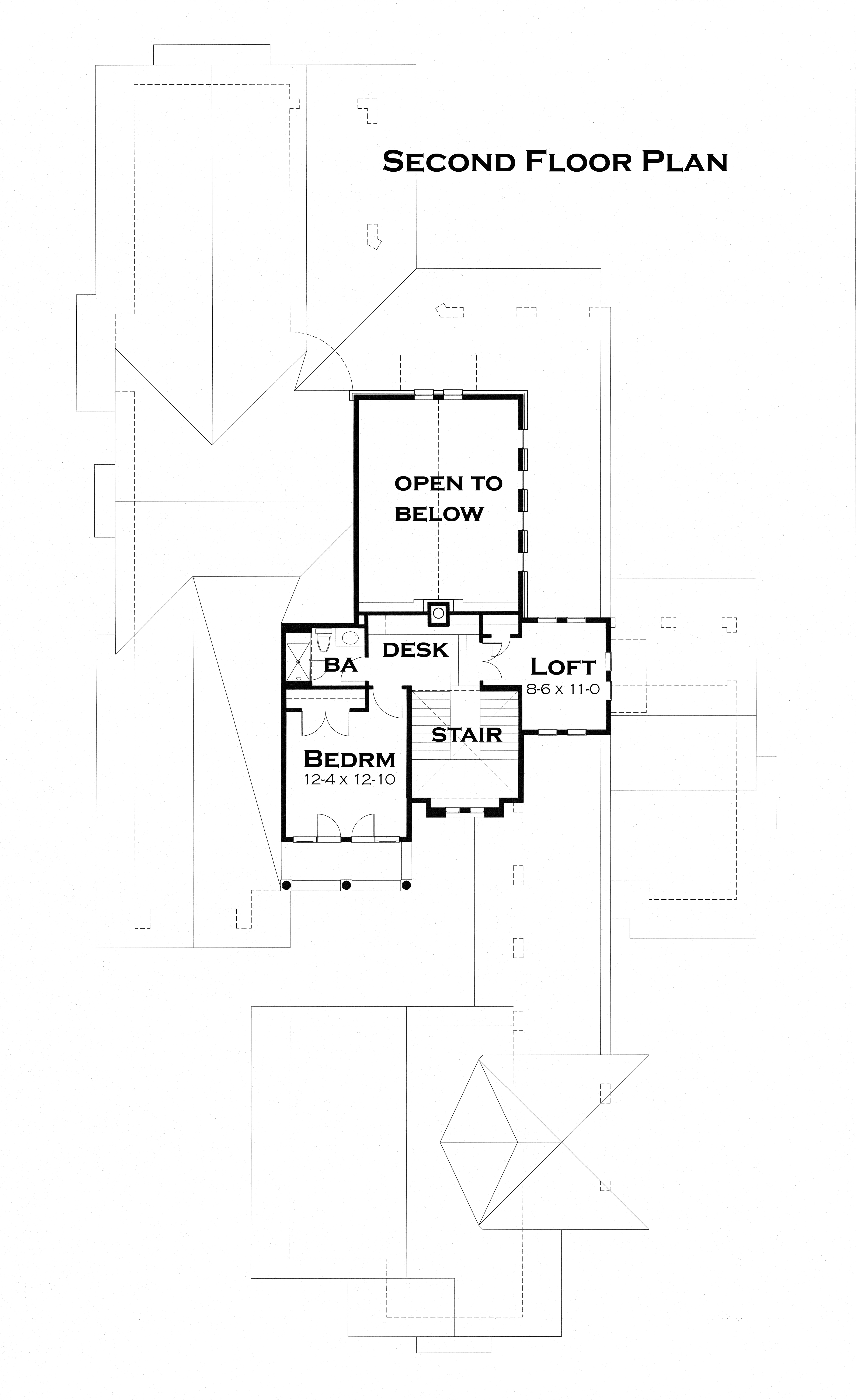 Second Floor Plan image of Featured House Plan: BHG - 3123