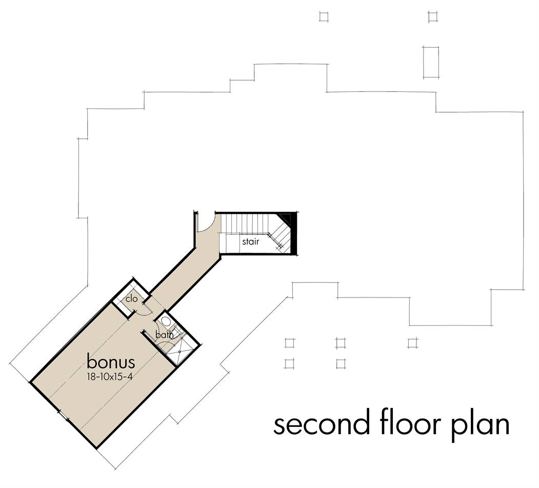 Second Floor Plan image of Featured House Plan: BHG - 4456
