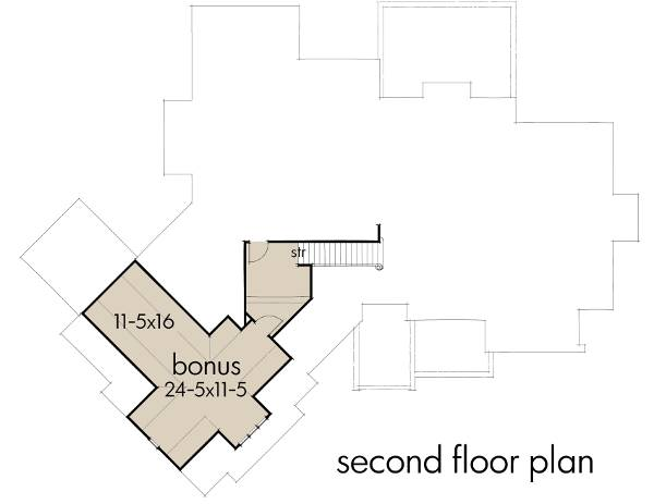 Second Floor Plan image of Featured House Plan: BHG - 2194