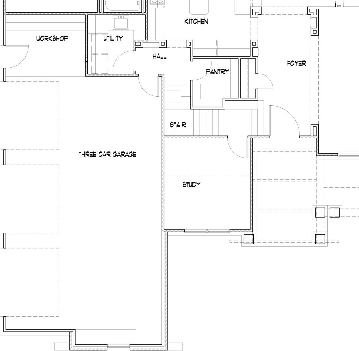 3-car option image of Featured House Plan: BHG - 4838