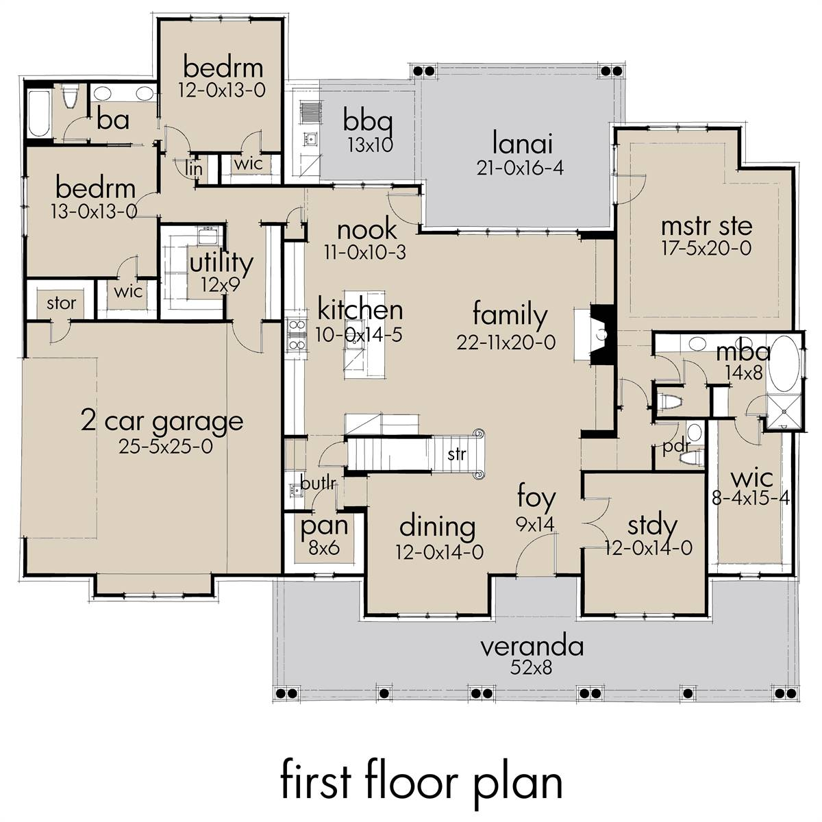 First Floor Plan image of Featured House Plan: BHG - 7172