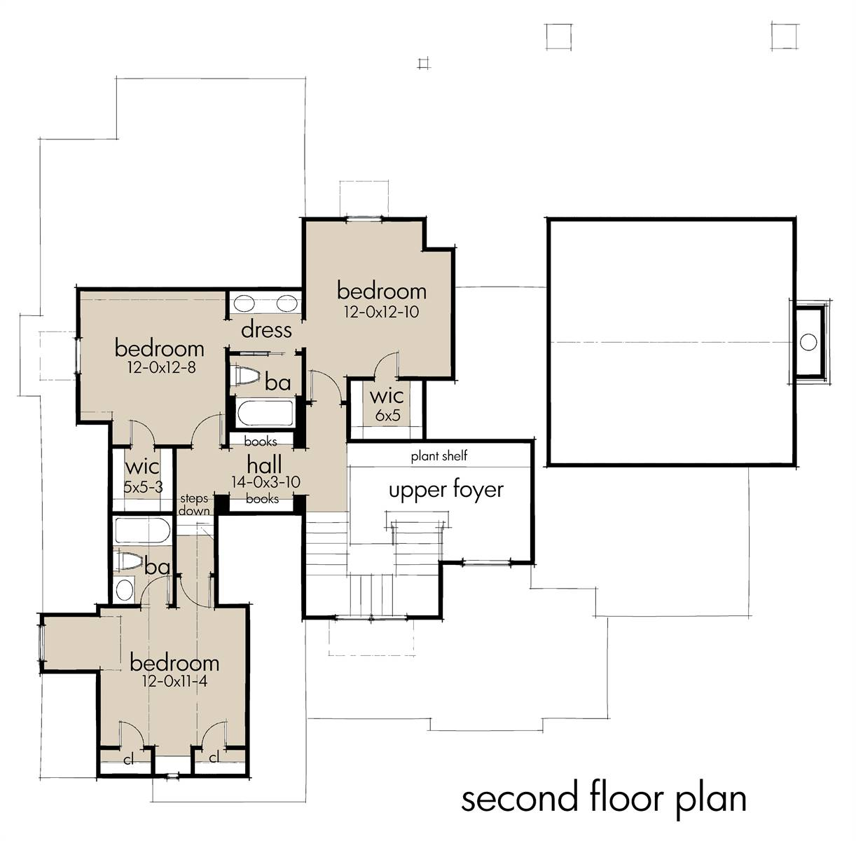 Second Floor Plan image of Featured House Plan: BHG - 7198