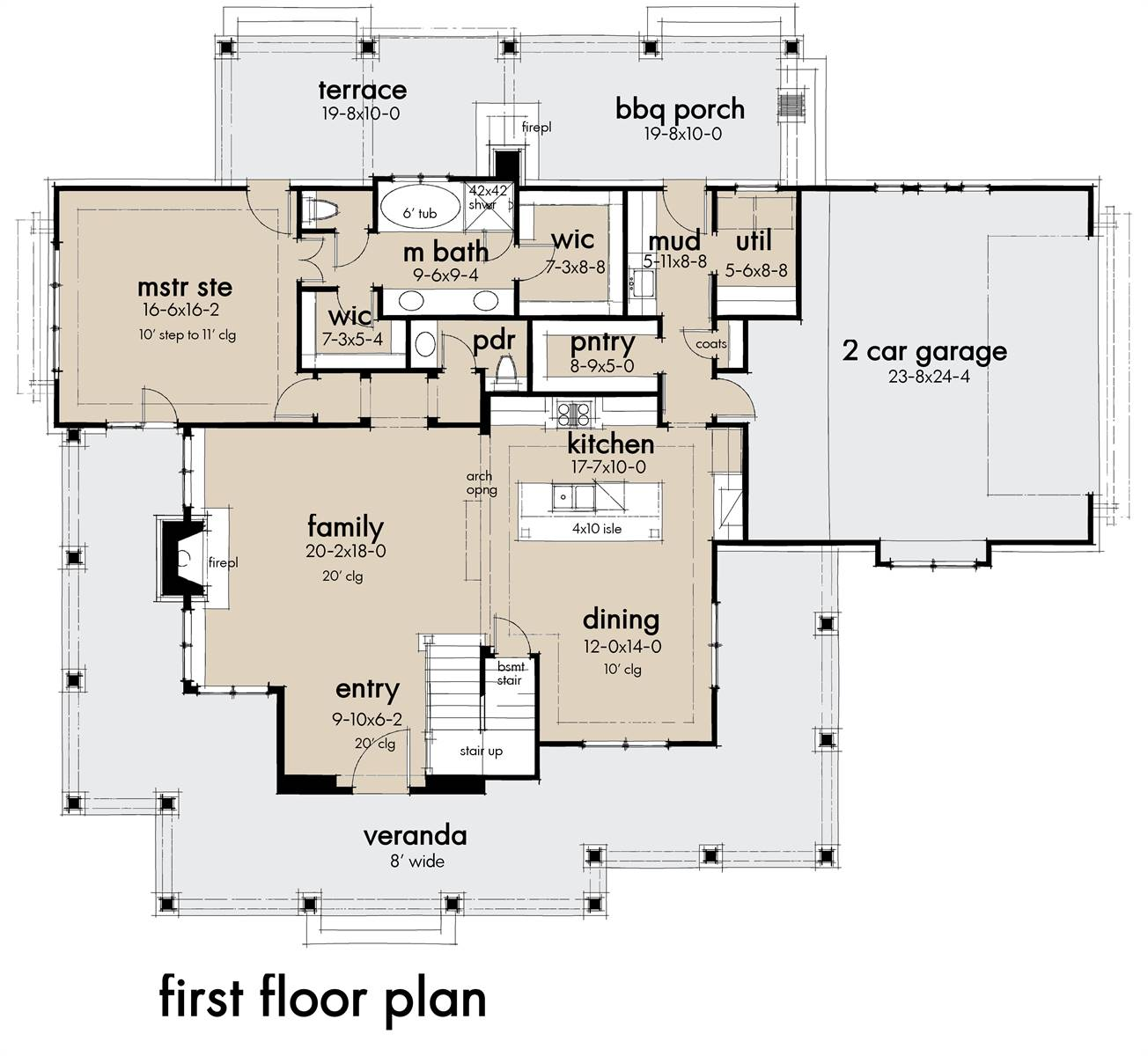 First Floor Plan image of Featured House Plan: BHG - 7369