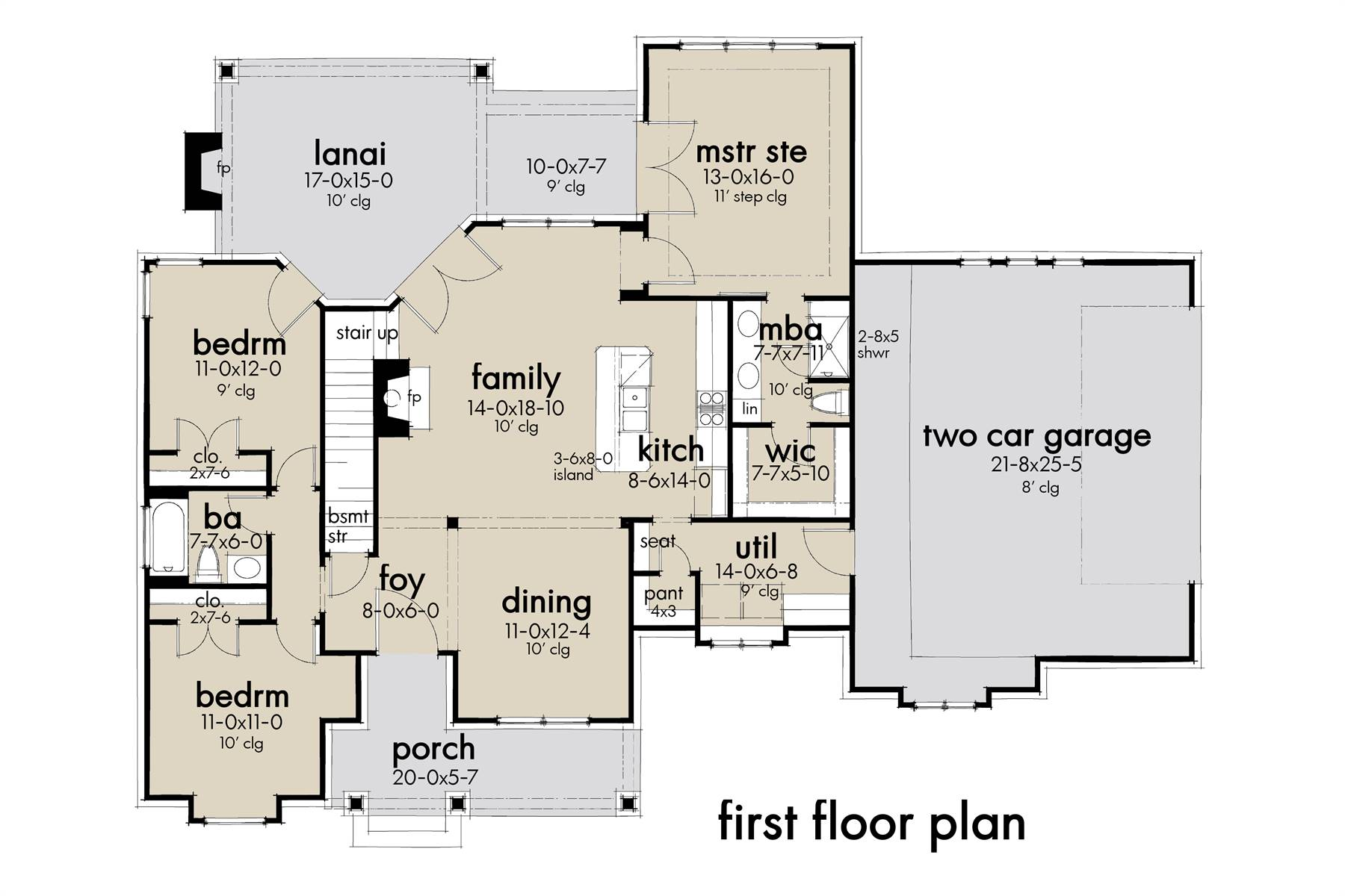 First Floor Plan image of Featured House Plan: BHG - 7377