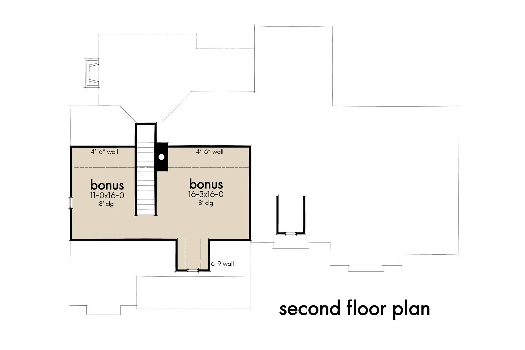 Second Floor Plan image of Featured House Plan: BHG - 7377
