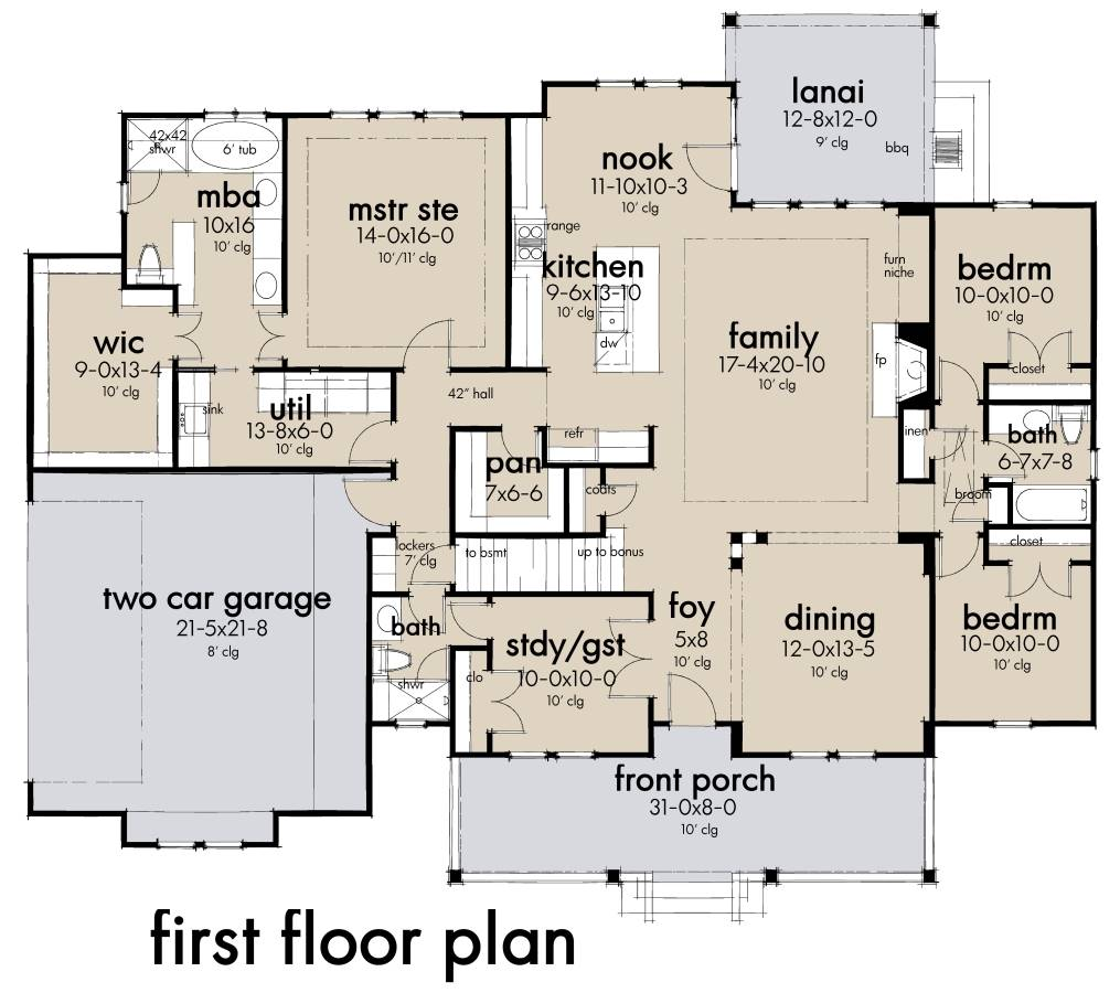 First Floor Plan image of Featured House Plan: BHG - 7465