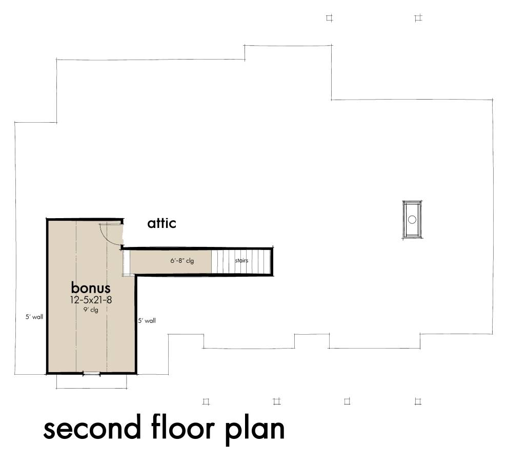 Bonus Floor Plan image of Featured House Plan: BHG - 7465