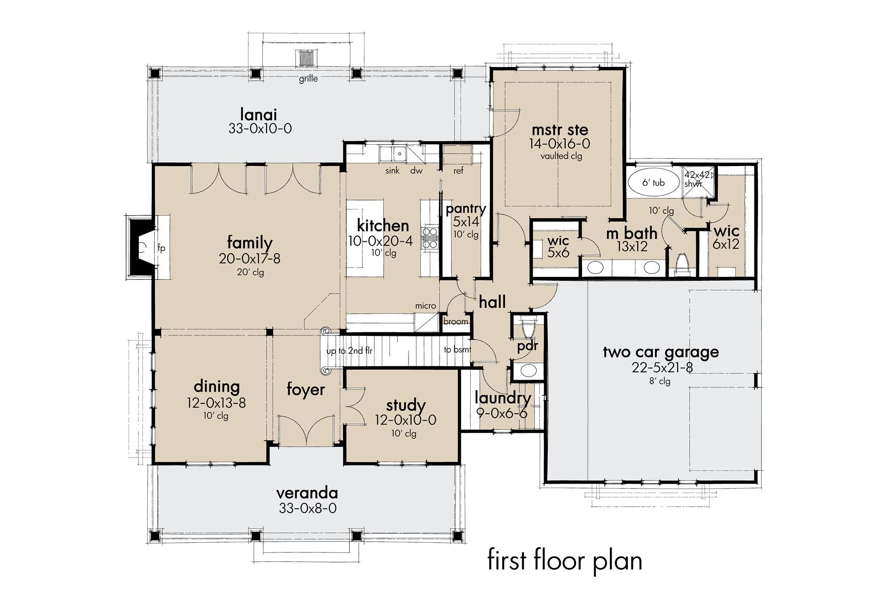 1st Floor image of Featured House Plan: BHG - 7871
