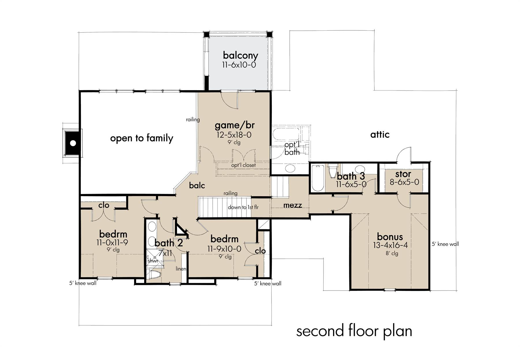 2nd Floor image of Featured House Plan: BHG - 7871
