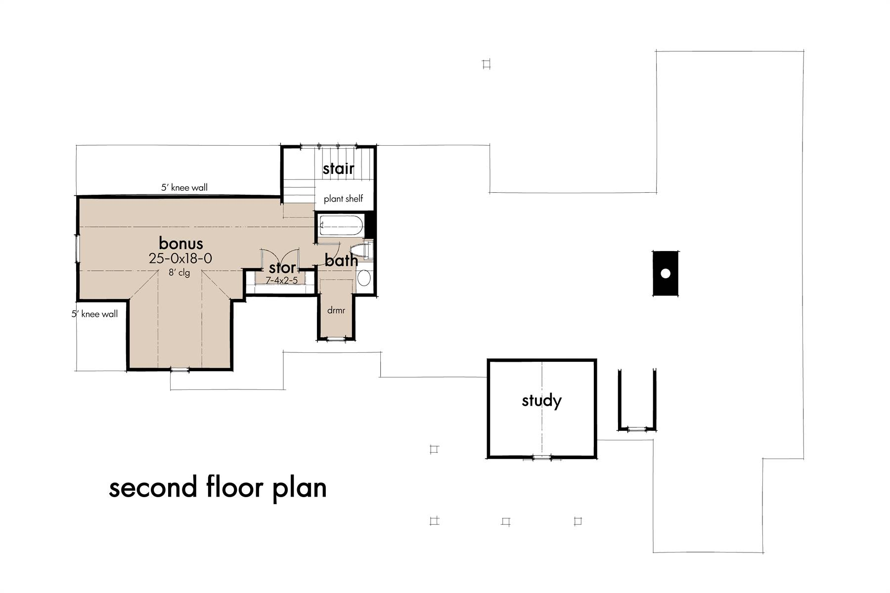 Bonus Floor Plan image of Featured House Plan: BHG - 8343