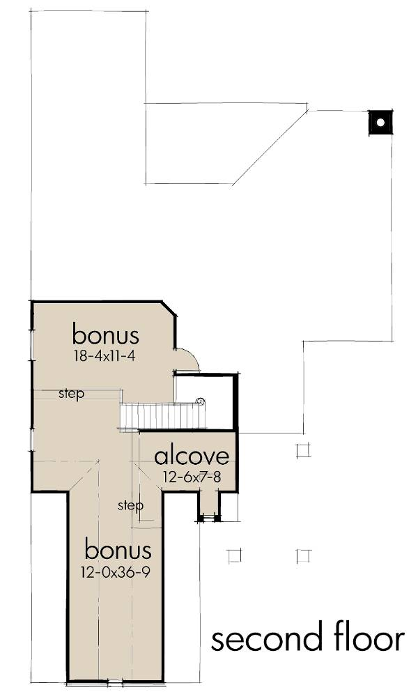Second Floor Plan image of Featured House Plan: BHG - 9639