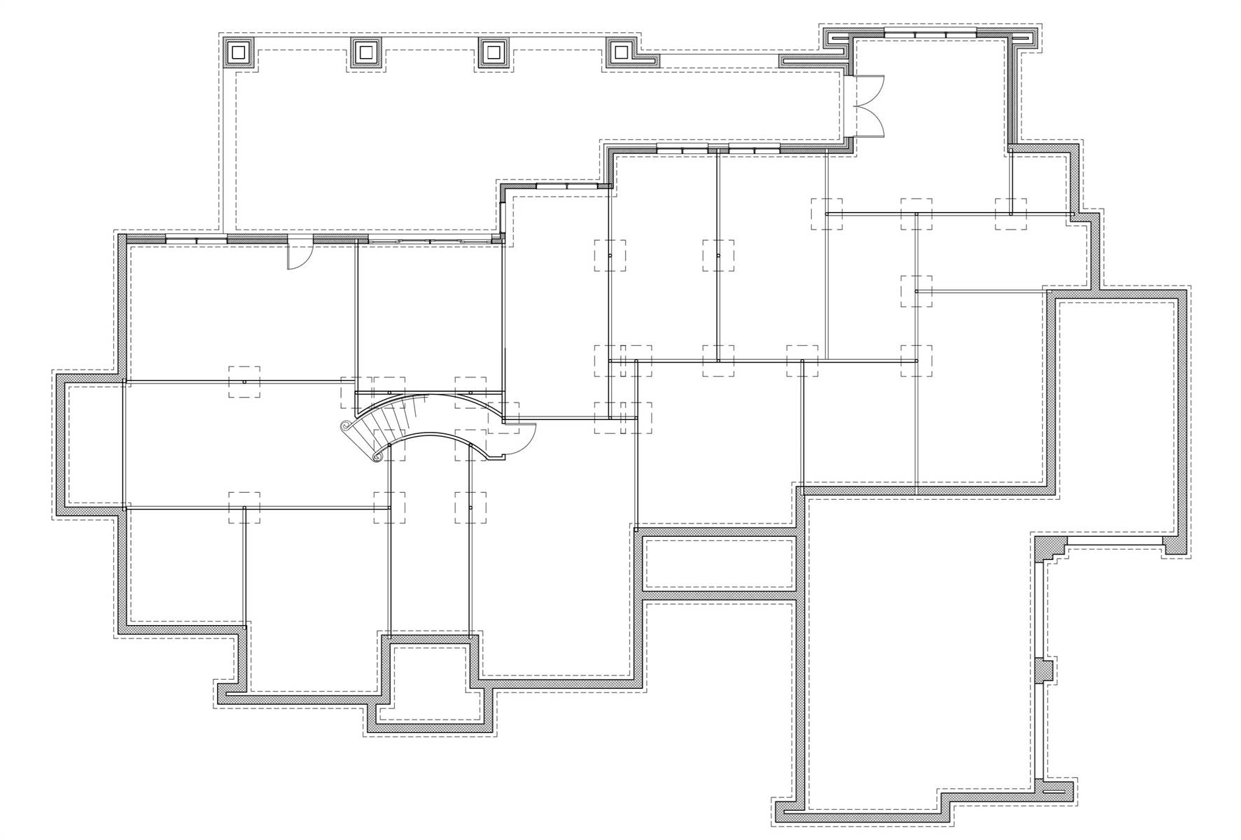 Basement Floor Plan image of Featured House Plan: BHG - 9658