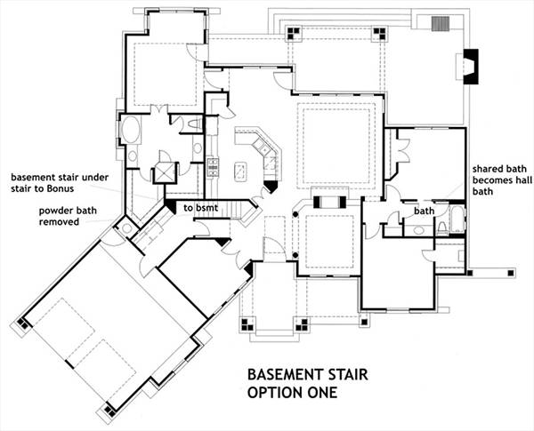 Basement Stair Option 1 image of Featured House Plan: BHG - 7878