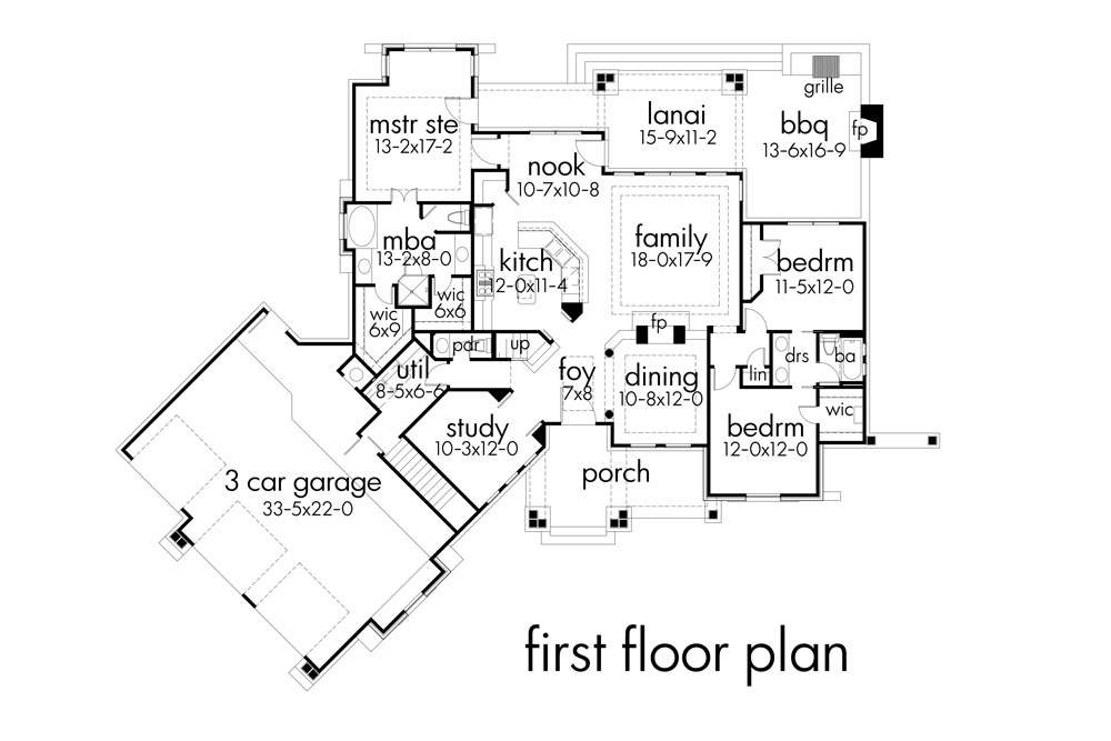 First Floor Plan image of Featured House Plan: BHG - 7878