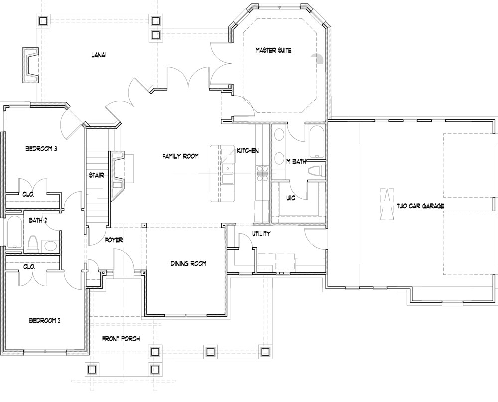 Attached 2-car Garage image of Featured House Plan: BHG - 2259